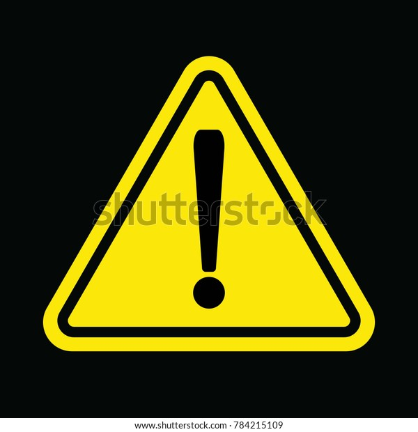 Caution Sign Yellow Triangle Exclamation Mark Stock Vector