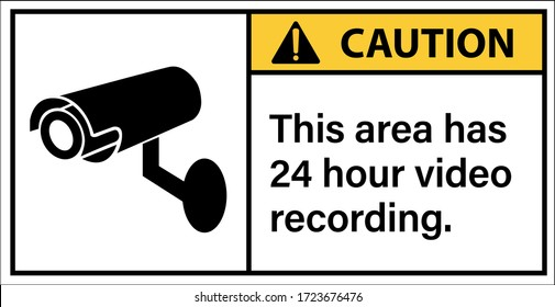 Caution This area has 24 hour video recording.