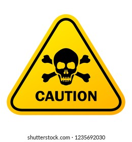 Caution triangular vector sign illustration isolated on white background