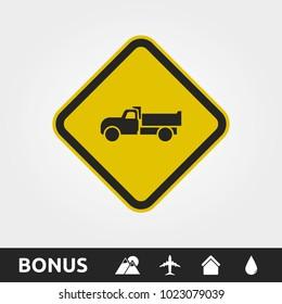 Caution Truck/Construction site Square Sign