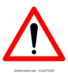 Caution Warning Symbol Sign,Vector Illustration, Isolate On White Background Icon. EPS10