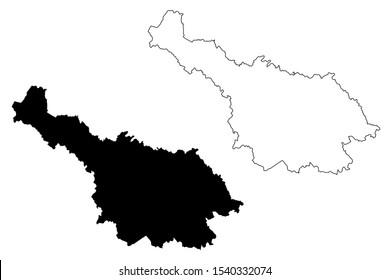 Cavan County Council (Republic of Ireland, Counties of Ireland) map vector illustration, scribble sketch Cavan map