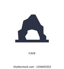 cave icon. Simple element illustration from stone age concept. cave editable symbol design on white background. Can be use for web and mobile.