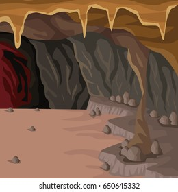 Cave interior background in deep mountain