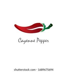Cayenne Pepper logo creative inspiration vector design
