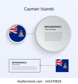 Cayman Islands Country Set of Banners on gray background for Infographic and Presentation. Vector illustration.
