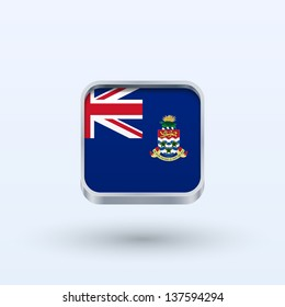 Cayman Islands flag icon square form on gray background. Vector illustration.