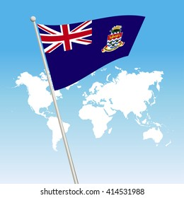 Cayman Islands Flag. waving flag