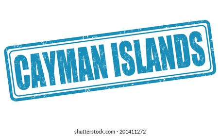 Cayman Islands grunge rubber stamp on white, vector illustration