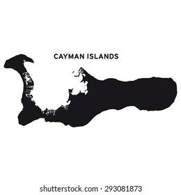 Cayman Islands map vector