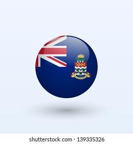 Cayman Islands Round Flag. Vector illustration.