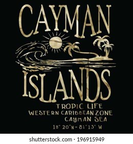 cayman islands vector prints.