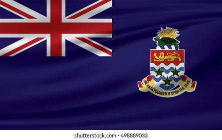 Cayman Islands Waving Flag