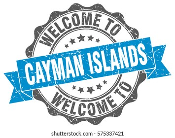 Cayman Islands. Welcome to Cayman Islands stamp