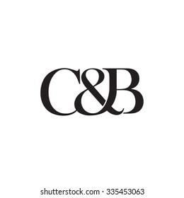 C&B Initial logo. Ampersand monogram logo