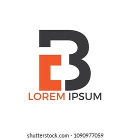 CB letter logo design vector illustration. Creative Letter CB letter logo