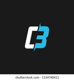 CB logo designed with letter C and B in vector.