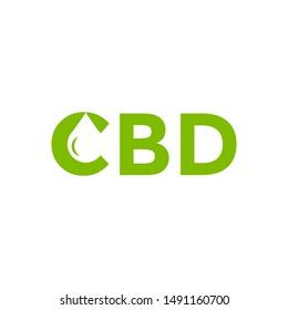 CBD Logo Icon With Business Card Vector Template, CBD Cannabidiol Cannabis Hemp Marijuana Medical Pharmaceutical Industry And Business Medical.