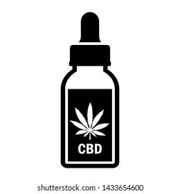 Cbd oil vector icon isolated on white background