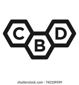 cbd vector logo. icon symbol.