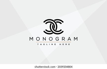 CC Abstract Letter Logo Monogram