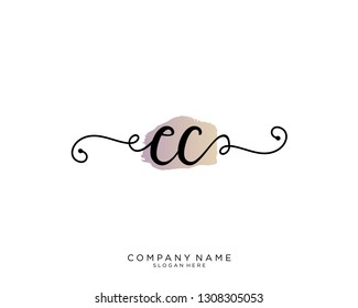 CC C C Initial handwriting logo template