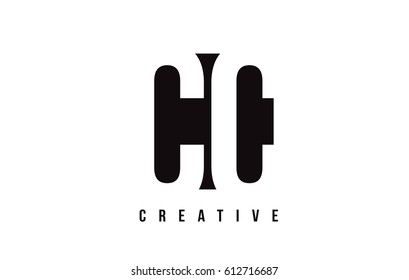 CC C C White Letter Logo Design with Black Square Vector Illustration Template.