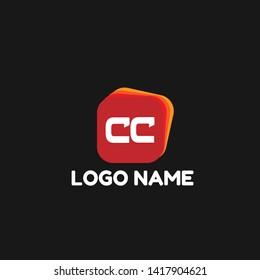 CC company linked letter logo concept. Designed for your web site design, logo, app, UI. initial logo design