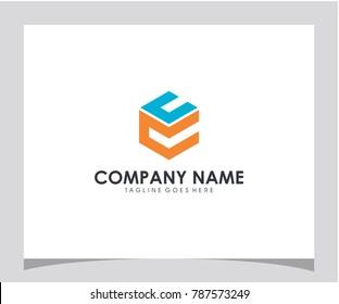 CC initial modern symbol icon letter logo brand company design vector