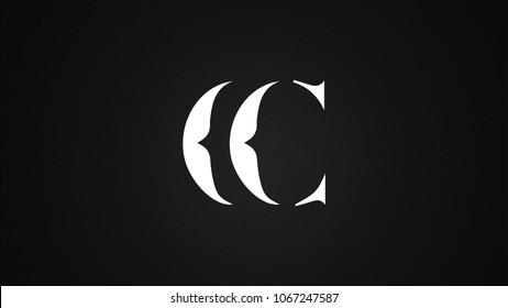 CC Letter Logo Design Template Vector