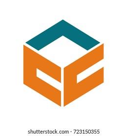 CC letter logo design vector