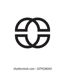 CC letter logo, OO letter logo, OC letter logo, CO letter logo