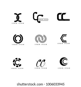 CC Logo Vector, Design Letter with Creative Font.