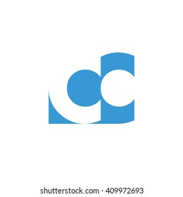 CC Logo | Vector Graphic Branding Letter Element | jpg, eps, path, web, app, art, ai | White Background