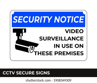 Cctv, Alarm, Monitored And 24 Hour Video Camera Surveillance Sign In Vector, Easy To Use And Print Design Templates