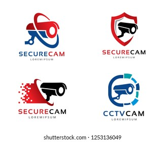 CCTV Cam Logo, Logo collection set, Concept design, Symbol, Icon