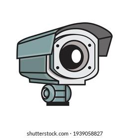 CCTV Camera eye logo illustration