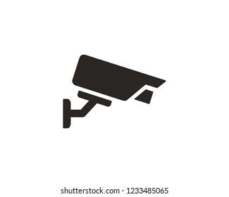 CCTV camera icon sign symbol