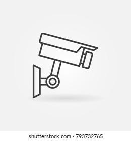 CCTV camera icon - vector closed-circuit television camera outline symbol
