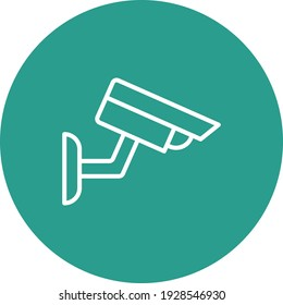 Cctv, camera, security icon vector image. Can also be used for network and data sharing. Suitable for use on web apps, mobile apps and print media.