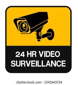 CCTV Camera Symbol Sign Isolate On White Background Label ,Vector Illustration
