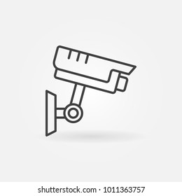 CCTV outline icon. Vector security camera concept symbol in thin line style