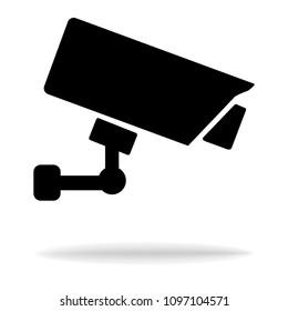 CCTV security camera icon on white background