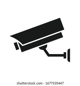 CCTV, Security Camera Icon Vector illustration on blank background