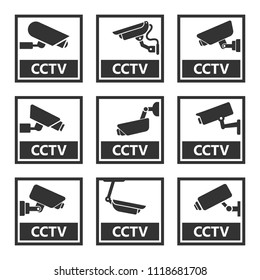 cctv sign, security camera stickers
