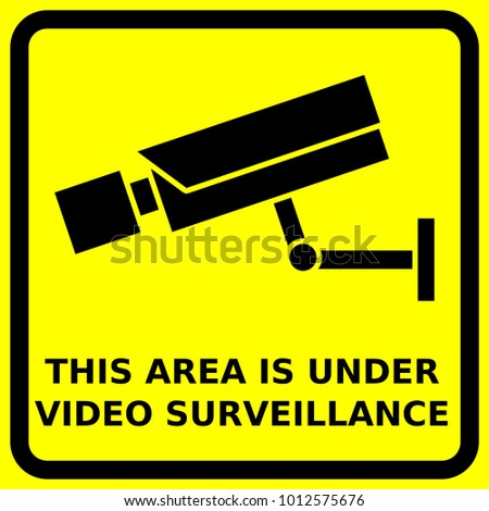 Cctv Sign Security Camera Symbols Video Stock Vector Royalty Free