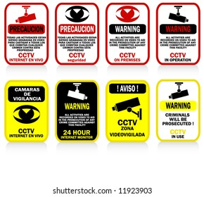 CCTV signs and warnings - posters