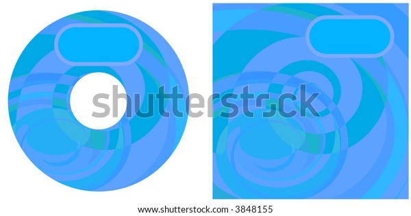 CD background. Oval is movable.
