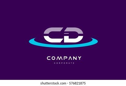 cd c d cyan magenta blue letter combination alphabet vector company logo icon sign design template