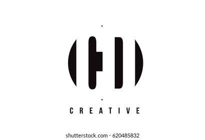 CD C D White Letter Logo Design with Circle Background Vector Illustration Template.